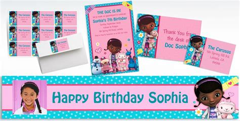 Doc Mcstuffins Thank You Card Template by Custom Doc Mcstuffins Invitations Thank You Notes