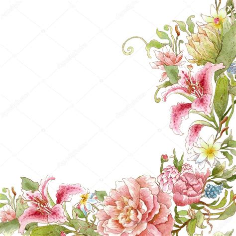 Card Template Flowers by Watercolor Floral Card Template Stock Photo 169 Yaskii