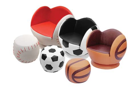 Sports Furniture by Sports Chair Ottoman Collection