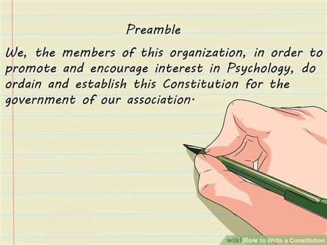 which section of the constitution begins with we the people how to write a constitution 12 steps with pictures