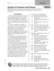 finding the theme worksheets 4th grade lesson plan for