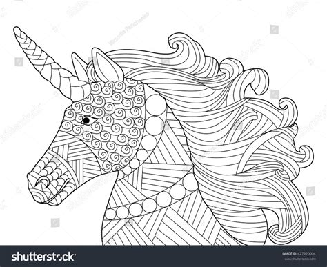 anti stress colouring book for adults unicorn coloring book adults vector stock vector