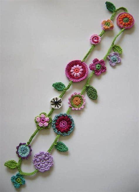 crochet jewelry best 25 crochet necklace ideas on crochet