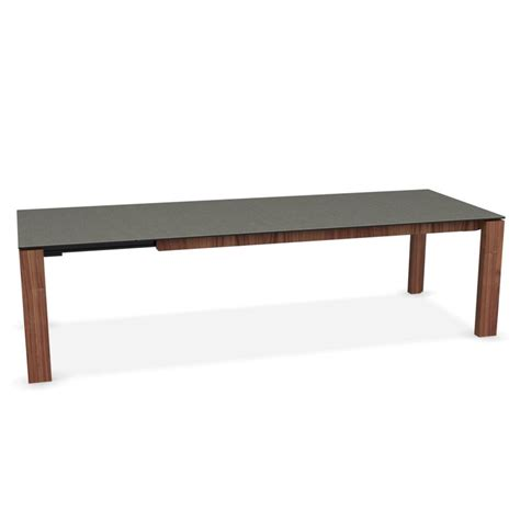 grey glass dining table calligaris omnia glass extending dining table lead grey
