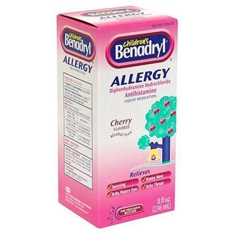 children s benadryl for dogs benadryl children allergy liquid med 8 ounce by benadryl 16 74 diphenhydramine