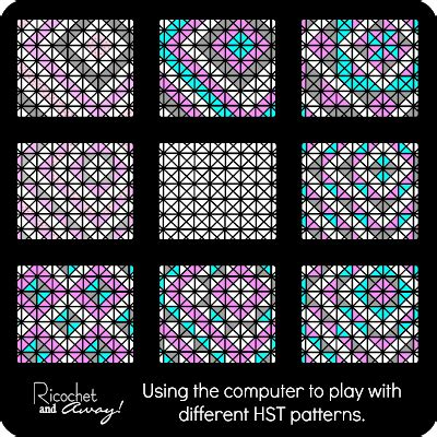 square pattern coreldraw ricochet and away hst baby quilt tutorial