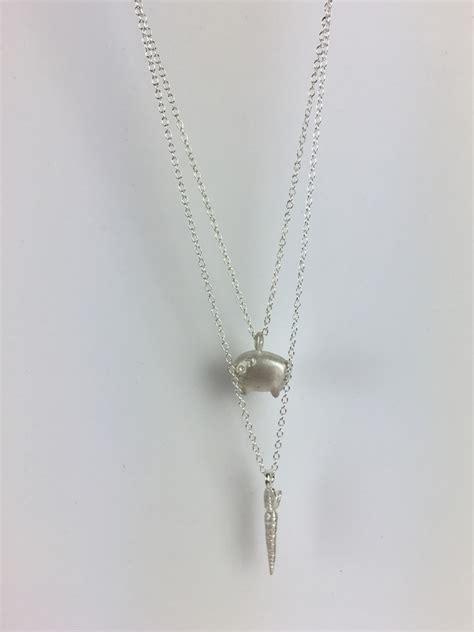 Handmade Silver Necklace Uk - handmade sterling silver piglet necklace veganage
