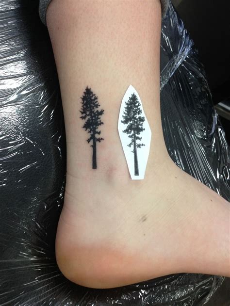 small tree tattoos s ponderosa pine tree by leland