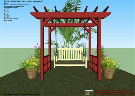 arbor swing plans free outdoor swing arbor plans wood gate design photos