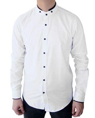 Kemeja Kerah Sanghai Polkadot jual kemeja kerah shanghai pria klp es34 putih fashion kerja di omjoni