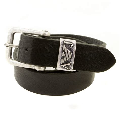 armani black casual leather belt r6110 za ajm0357 at