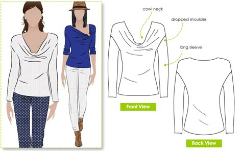 pattern review top ten stylearc cate s cousin top