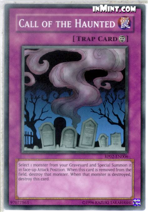 Yugioh Call Of The Haunted Original inmint yugioh common card singles call of the haunted rp02 en006 unlimited edition