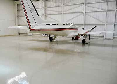 Epoxy Flooring for Airplane Hangers