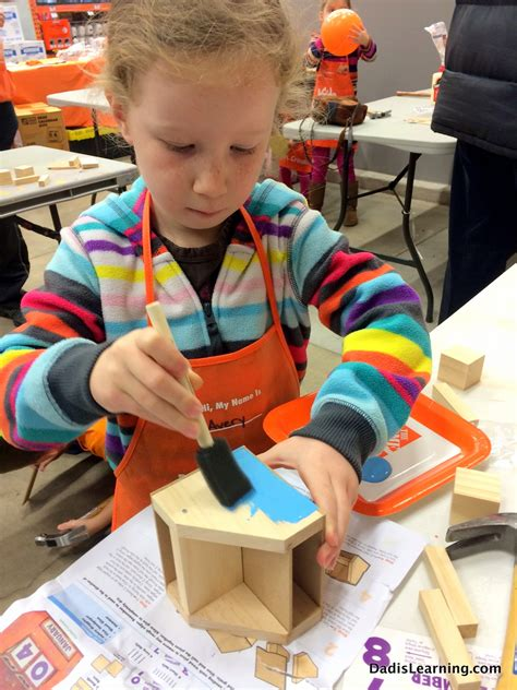 home depot kid s workshops rosie the robot a year ago