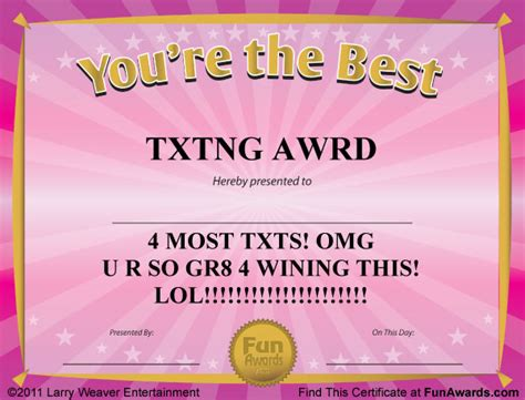 silly certificates awards templates award certificates templates