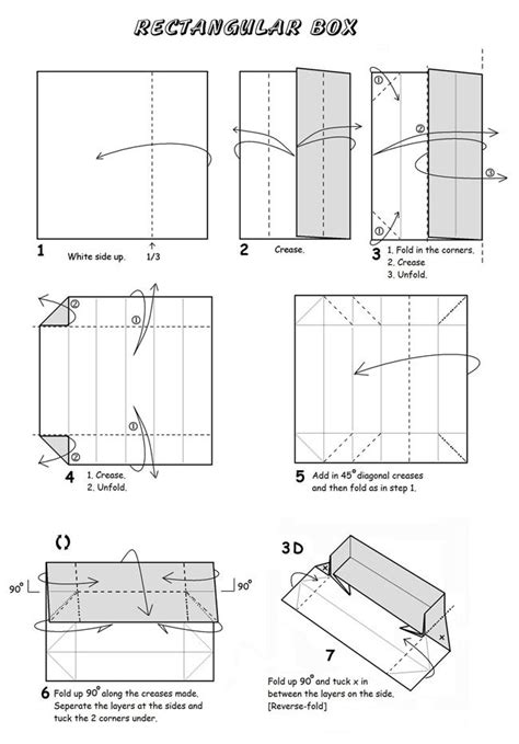 How To Make An Origami Rectangle Box - rectangular box origami et papier