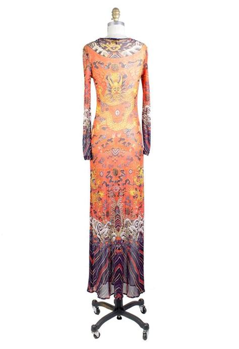 Dress Of The Day Tocca Vivienne Dress by Vivienne Tam Print Mesh Maxi Dress Circa 1990s For