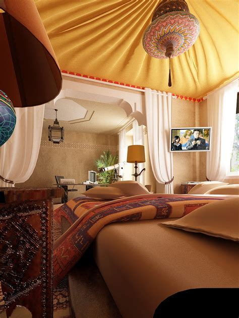 Bedroom: Attractive Picture Of Moroccan Themed Bedroom