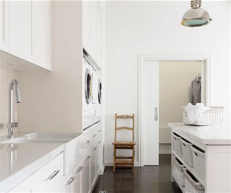 Kitchen Island Makeover Ideas Laundry Room With White Shaker Cabinets Marble Tile
