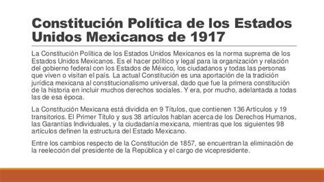 constitucion politica de los estados unidos mexicanos 2015 constituci 243 n pol 237 tica de los estados unidos mexicanos de 1917