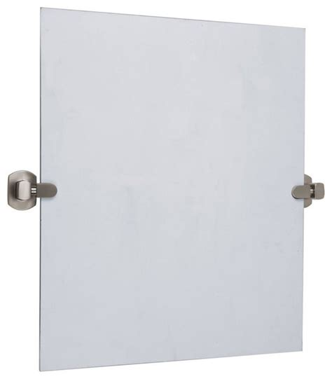 Satin Nickel Bathroom Mirror Pivot Mirror In Satin Nickel Finish Contemporary Bathroom Mirrors By Shopladder