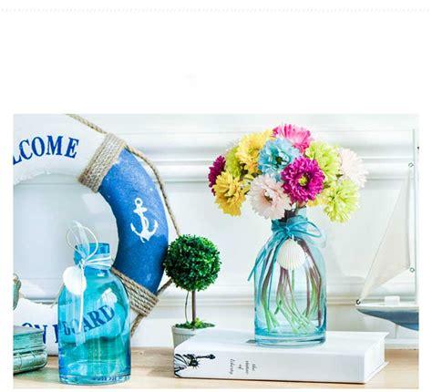 floreros de cristal por mayor peque 241 os floreros floreros de cristal azul al por mayor