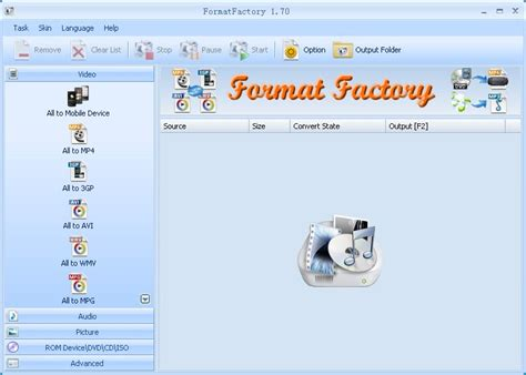 format factory joydownload formatfactory file extensions