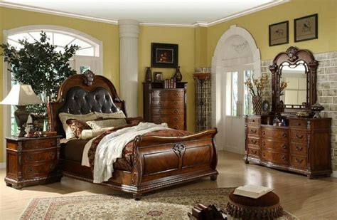 mollai bedroom collection mollai collection 7pc bedroom set with padded leather