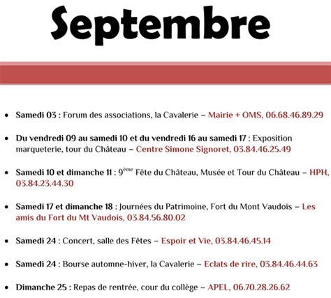 Le Calendrier Des Fetes Le Calendrier Des F 234 Tes Et Agenda Des Manifestations Les