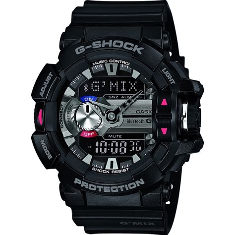 Casio G Shock Gba 400 Black gba 400 1aer casio mens g shock black bluetooth combi
