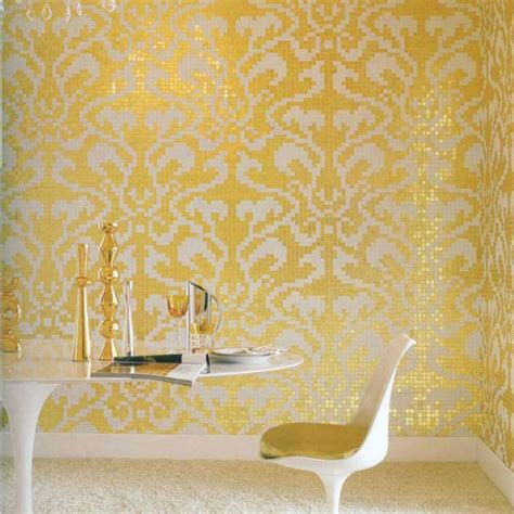 golden glass mosaic tiles pattern for wall decorative tiles cream white crystal glass tile