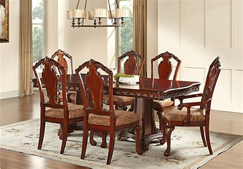 medieve dining room set cherry formal dining sets newcastle cherry 5 pc rectangle dining room formal