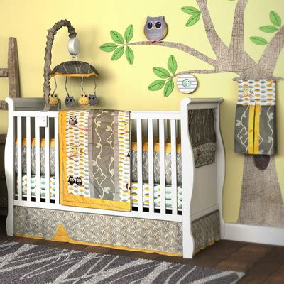 owl baby crib bedding set owl bedding set wayfair