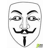 Coloriage  Le Masque De V Pour Vendetta Dans La