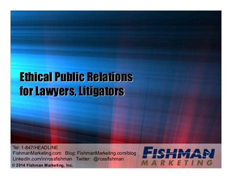 the ethical adman advertising in the pubic interest pr ethical public relations for lawyers litigators ross