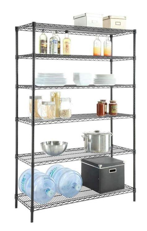 metal shelving system hdx heavy duty wire shelving system black steel shelf