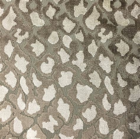 Animal Upholstery Fabric Leopard Pattern Cut Velvet Upholstery Fabric By