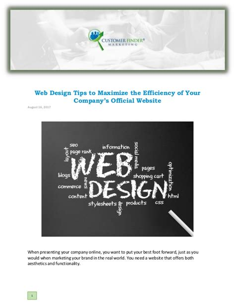 homepage web design tips web design tips to maximize the efficiency of your company
