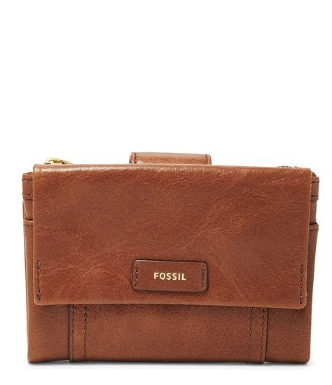 Dompet Fossil Ellis Wallet lyst fossil ellis multifunction wallet in brown for
