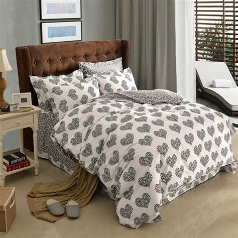 black and white polka dot bedding aliexpress com buy black and white polka dot heart