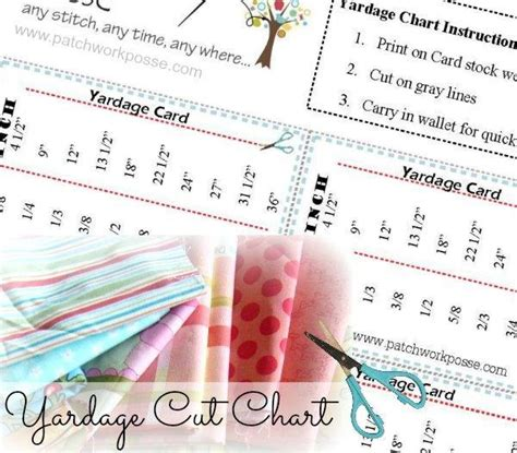 printable yardage books fabric yardage by patchwork posse sewing pattern