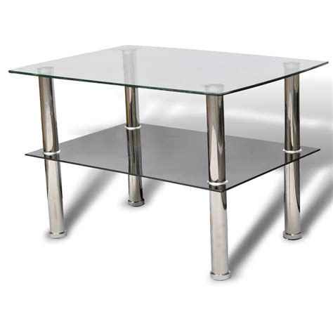 2 coffee table glass coffee table 2 tiers vidaxl co uk