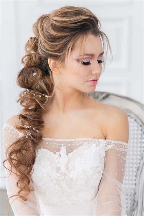 wedding hairstyles deer pearl flowers
