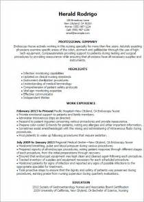 Endoscopy Resume Objective Professional Endoscopy Templates To Showcase Your Talent Myperfectresume