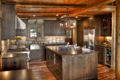 Rustic Kitchen Lighting Ideas Cabin Kitchen Design Home Design Ideas Murphysblackbartplayers