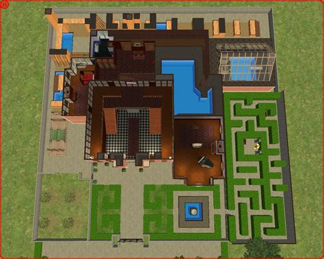 Floor Plans For Minecraft Houses mod the sims lara croft s manor from tomb raider