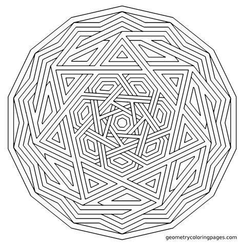 complex heart coloring page complex geometric coloring pages coloring home