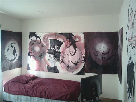 tim burton themed bedroom wall art designs awesome drawing tim burton wall art
