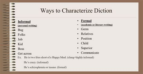 the formal literary analysis step one open generally four elements of style literary devices diction syntax